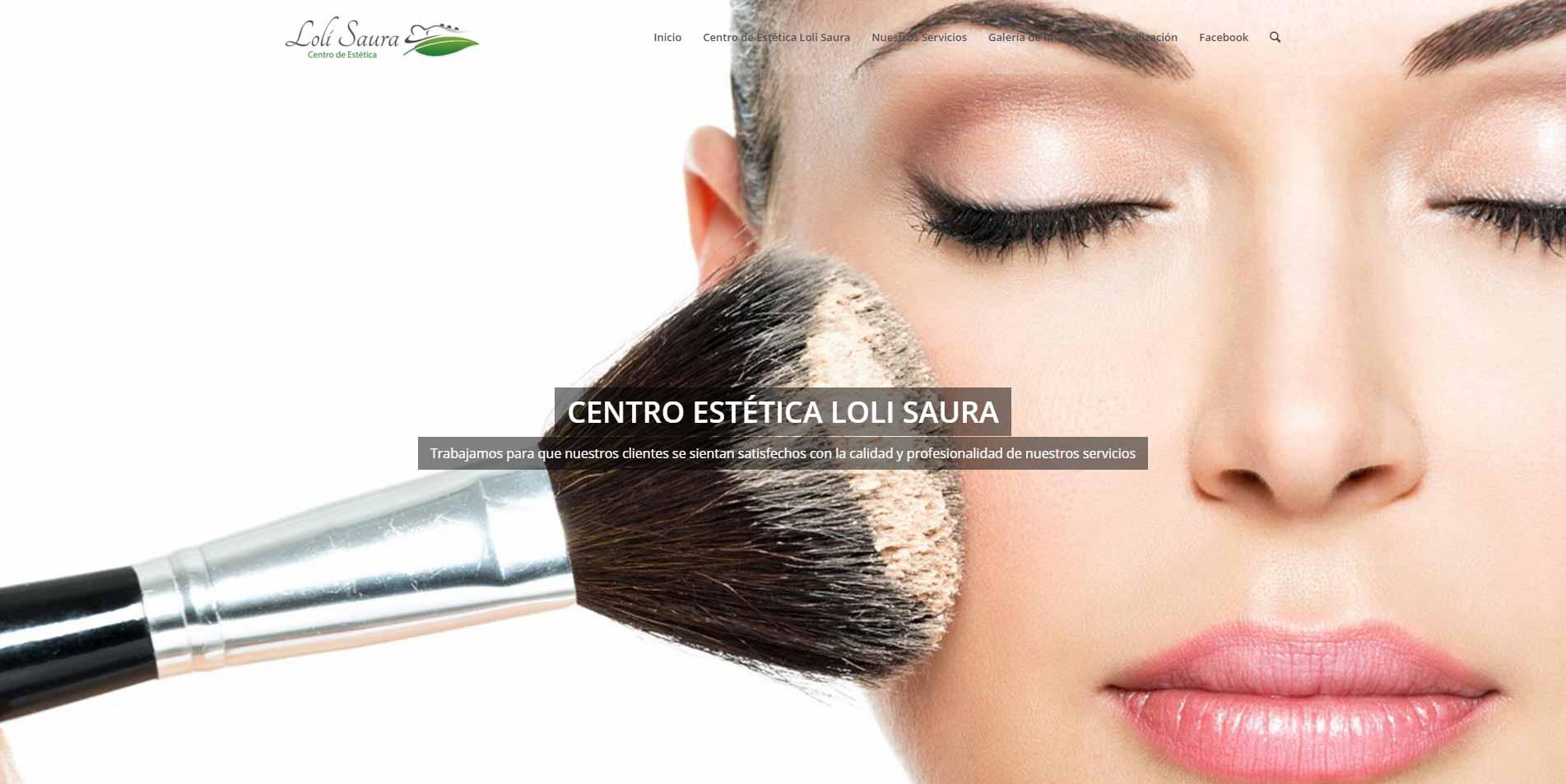 Web Centro de Estetica Loli Saura